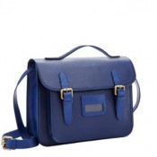 Joules French Navy Leather Satchel