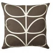 Orla Kiely 'Linear Stem' Cushion - Chocolate