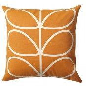 Orla Kiely 'Linear Stem' Cushion - Orange