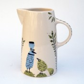 Hannah Turner Ceramics 'Birdlife' Tall Jug -  OUT OF