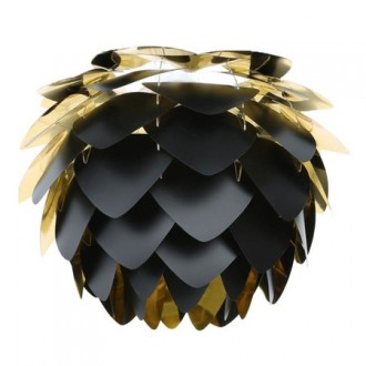 Vita Lighting Silvia Black & Gold Shade