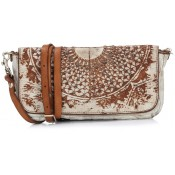 Campomaggi Lavata Gothic Clutch Bag White Leather