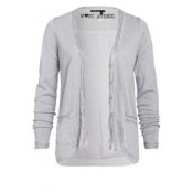 Marc Aurel Light Grey Sequin Detail Cardigan