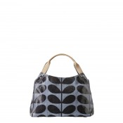 Orla Kiely Shiny Laminated Solid Stem Small Classic Handbag
