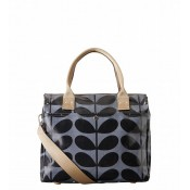 Orla Kiely Shiny Laminated Solid Stem Print Zip Messenger - LAST ONE