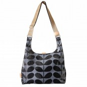 Orla Kiely Shiny Laminated Solid Stem Print Midi Sling Bag